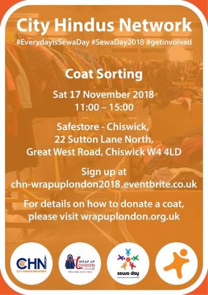 Wrap up London Coat Sorting